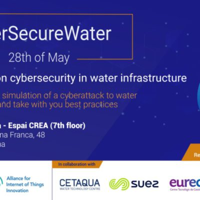 CyberSecureWater workshop on the 28th May 2019, Barcelona – Registration are now open!