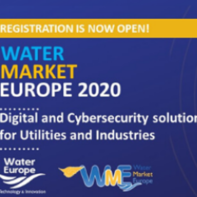 Water Market Europe 2020 open for registration