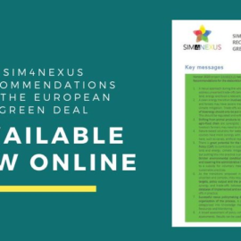 SIM4NEXUS launches new policy brief with recommendations to the European Green Deal