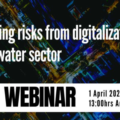 Registrations are open to join a webinar on managing risks from digitalisation in the water sector