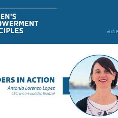 BioAzul CEO Antonia Lorenzo selected as Leader in Action by UN's Women's Empowerment Principles
