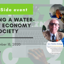 "EASME side event ""Building a water-smart economy and society"" 18 November – 2020"