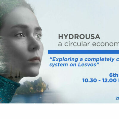 "Join the 3rd HYDROUSA webinar ""Exploring the circular applications on Lesvos"" – 6 May 2021"