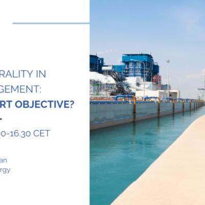 MEP Water Group Online Webinar – Energy Neutrality in Water Management: A Water-Smart Objective?