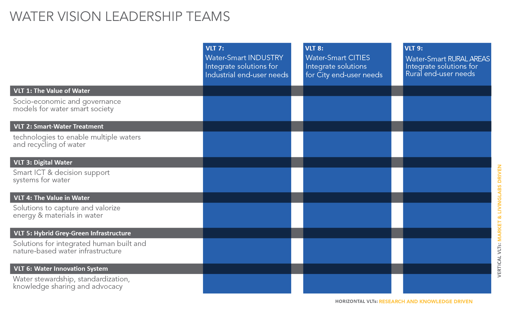 WE Vision Leadership Teams matrix