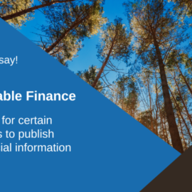 Public Consultation on Sustainable Finance is now open!