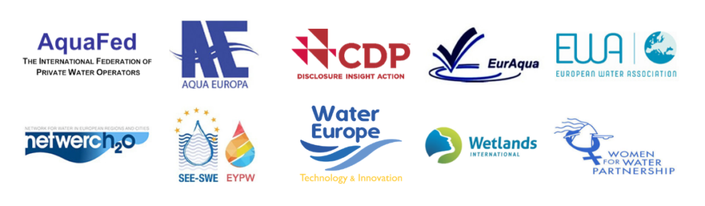 eu water alliance manifesto - logos