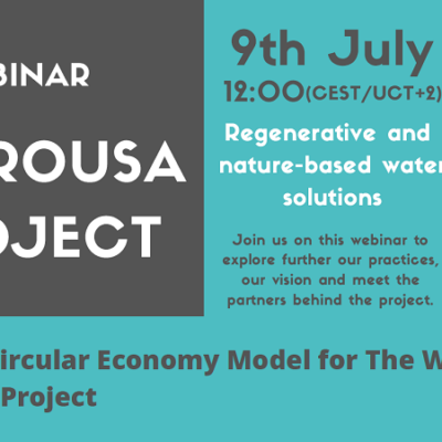 HYDROUSA to host a webinar: Towards a Circular Economy Model for the Water Cycle