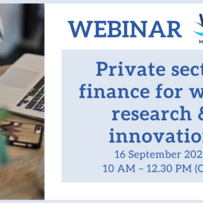 IC4WATER webinar on private sector finance for water research & innovation